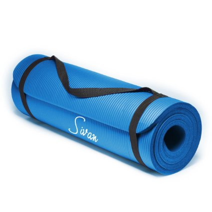 Sivan Health And Fitness 1 2 Inch Nbr Comfort Foam Yoga